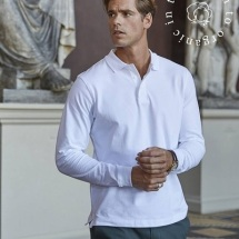 Polo stretch manches longues homme